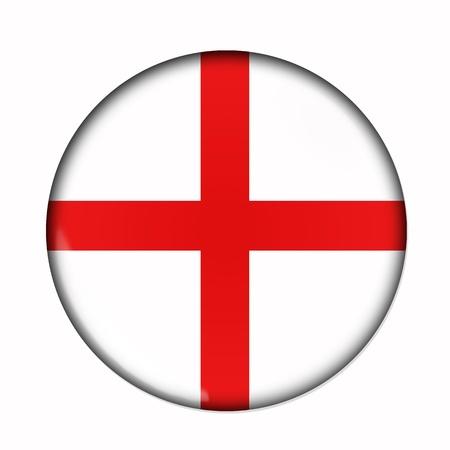 bandera inglaterra: Bandera de la Circular, buttonised de Inglaterra Foto de archivo