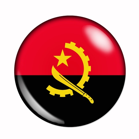 Circular,  buttonised flag of Angola photo