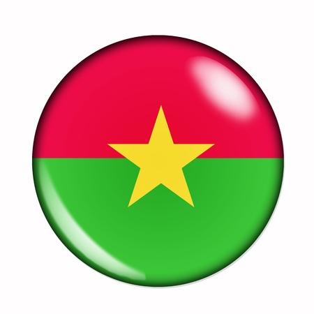 burkina faso: Circular,  buttonised flag of Burkina Faso Stock Photo