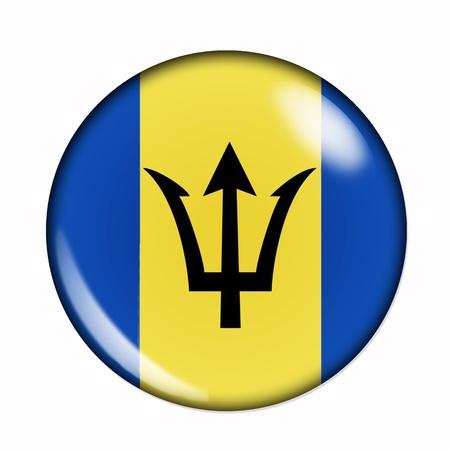 barbados: An isolated circular flag of Barbados