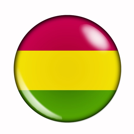 bandera bolivia: Una bandera aislado circular de Bolivia