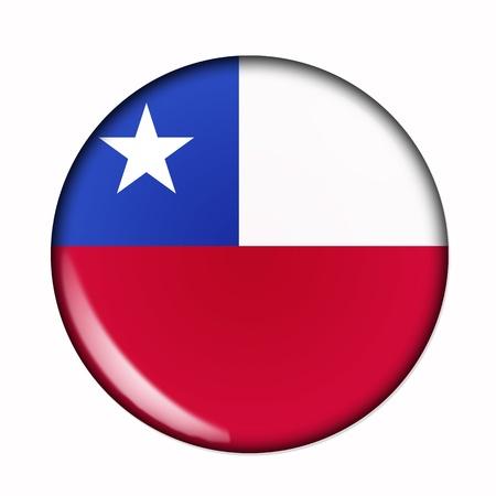 bandera de chile: Una bandera aislado circular de Chile Foto de archivo