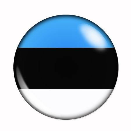 Circular,  buttonised flag of Estonia photo