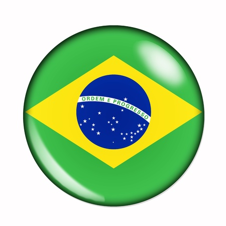An isolated circular flag of Brazil photo