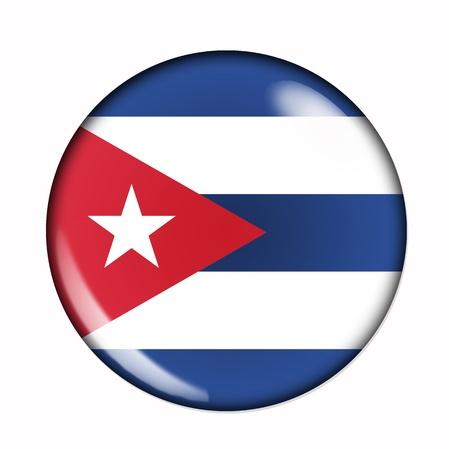 cuban flag: An isolated circular flag of Cuba
