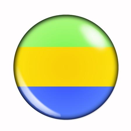 gabon: Circular,  buttonised flag of Gabon