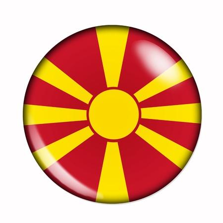 macedonia: An isolated circular,  buttonised flag of Macedonia