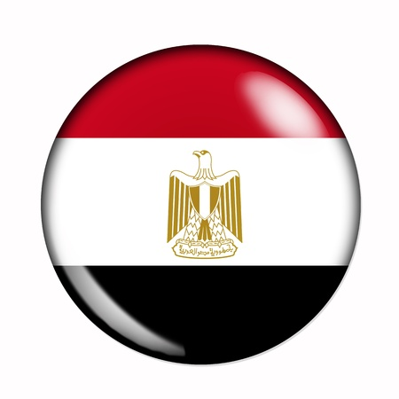 flag of egypt: Bandera Circular, buttonised de Egipto Foto de archivo