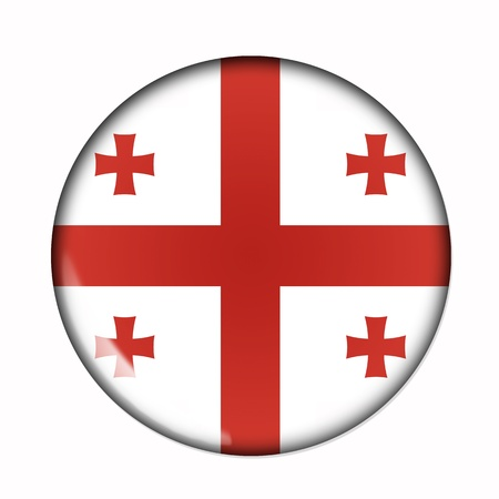 An isolated circular,  buttonised flag of Georgia photo