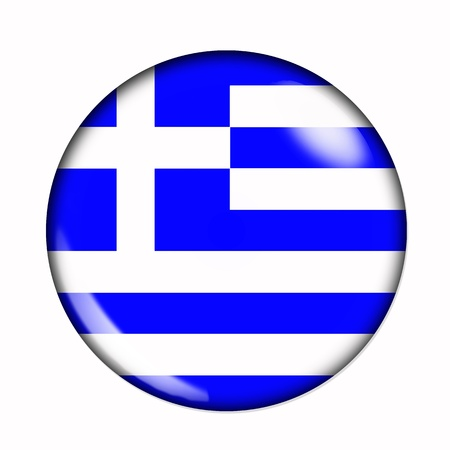 Circular,  buttonised flag of Greece photo