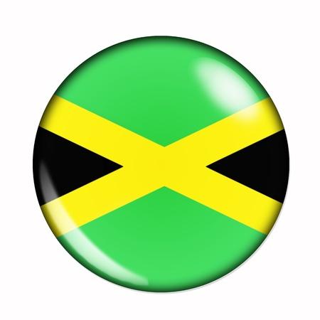 jamaica: An isolated circular flag of Jamaica