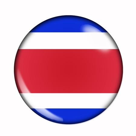 Een geïsoleerde ronde vlag van Costa Rica Stockfoto