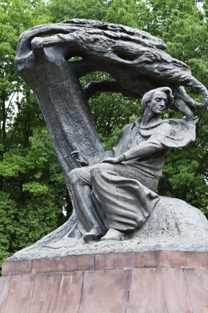 Chopin monument in Lazienki Park, Warsaw, Poland photo