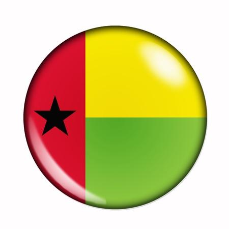 bissau: Circular,  buttonised flag of Guinea Bissau