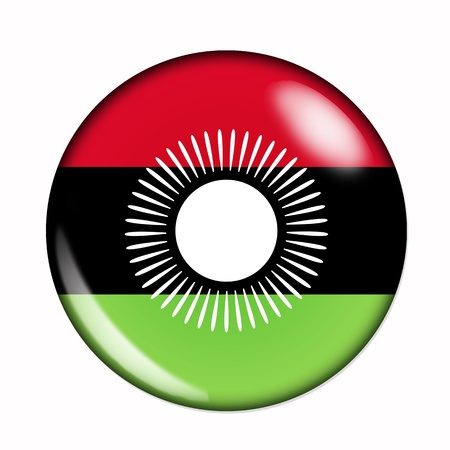 malawi flag: An isolated circular,  buttonised flag of Malawi Stock Photo