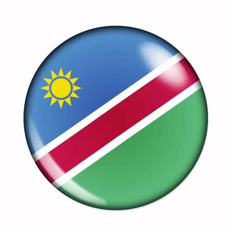 namibia: An isolated circular, buttonised flag of Namibia