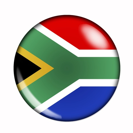 south africa flag: Circular,  buttonised flag of South Africa