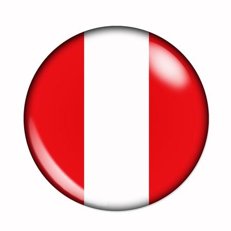 Een geïsoleerde ronde vlag van Peru