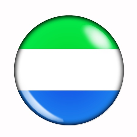 An isolated circular, buttonised flag of Sierra Leone photo