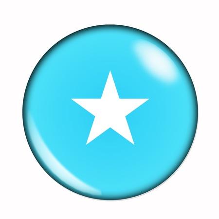 somali: An isolated circular, buttonised flag of Somalia