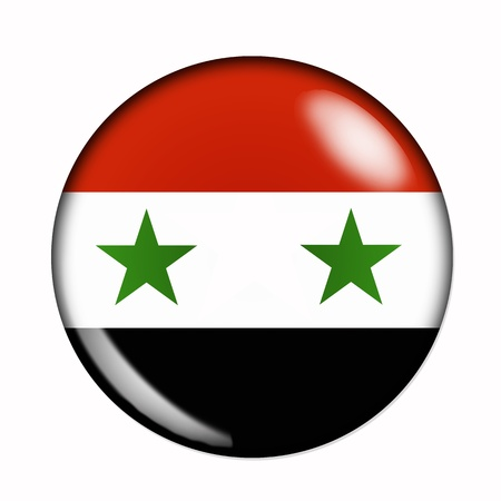 Circular,  buttonised flag of Syria photo