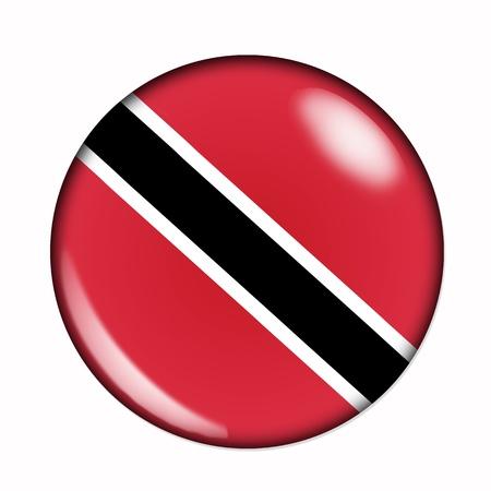 trinidad: An isolated circular flag of Trinidad and Tobago