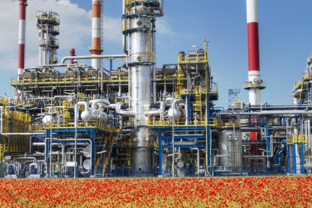 rafinery: A photo of petrochemical industrial plant