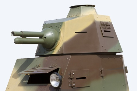 armament: A turret of a Renault light tank Stock Photo
