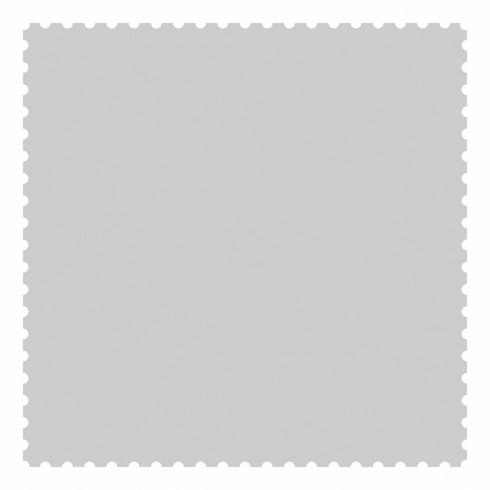 philatelic: Square blank postage stamp isolated on white background.  The proportion is 1 to 1