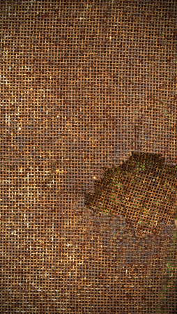 solid wire: Square mesh rust metal texture background