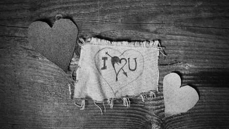 i love u: �crit � la main i love u notion fait sur conseil d'un mat�riau Banque d'images