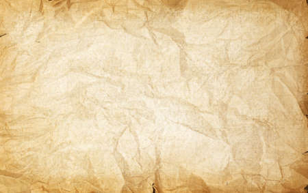 Rumpled crumpled old vintage paper texture background  photo