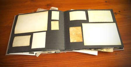 Vintage documents archives album concept