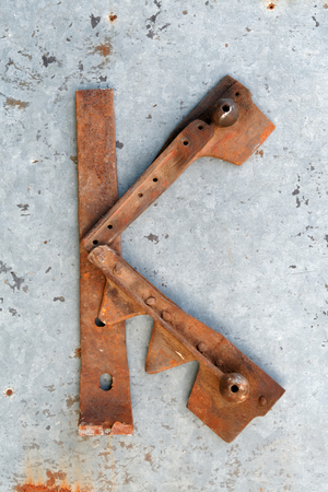 Rusty single letters all alphabet  photo