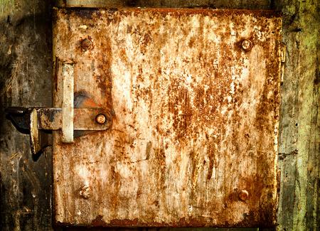old doors: Old grunge rusty metal doors texture or background