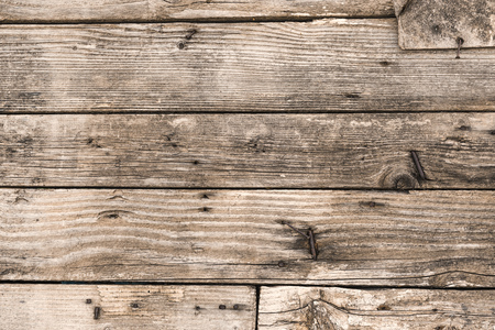 Brown wood boards texture or background pattern