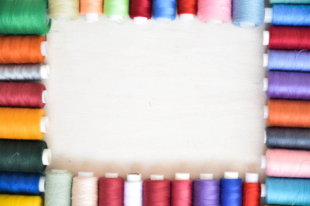 threads on a white background