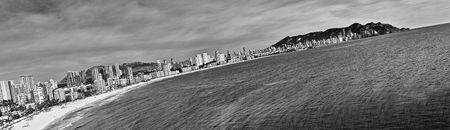 tilted: Tilted panorama of Benidorm