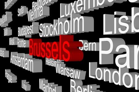 parliaments: Sottotitoli nelle capitali dei paesi europei come un 3D Archivio Fotografico