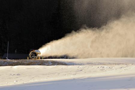 snowmaker in side light