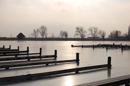 Frozen Lake in Winter Stock Photo - 9324715