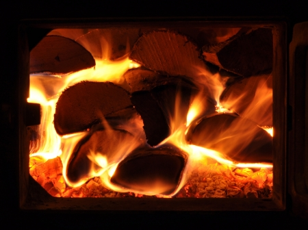 Cosy oven fire at home Stock Photo - 20359246