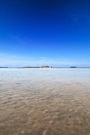 Beautiful shallow lagoon in the tropics