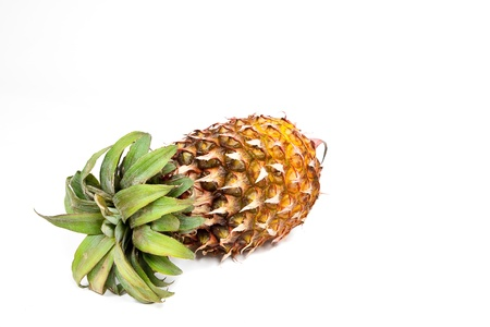 ripened: Isolated ripened fresh pineapple