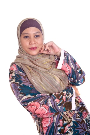 Beautiful mature and confident Muslim woman. photo