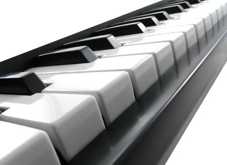 ivories: Piano keys  on the white background.
