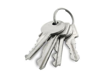 Keys, isolated on white background photo