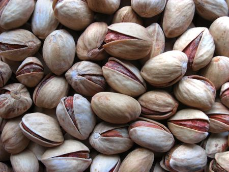 shelled: Closeup of shelled pistachio nuts Stock Photo