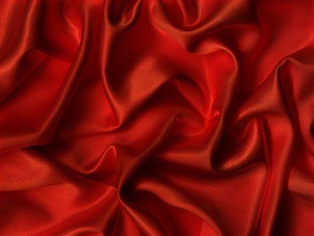Elegant folds of red silk. Stock Photo - 5136138