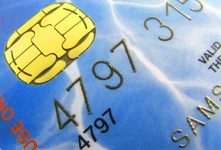 Closeup of a credit card. Stock Photo - 5136129